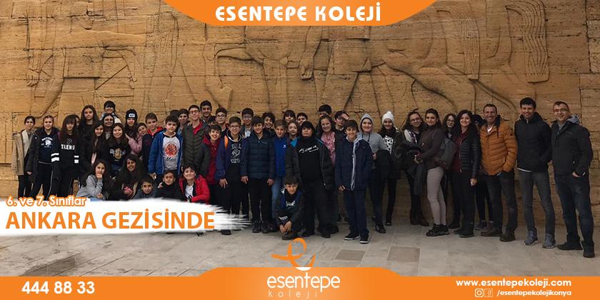 6. ve 7. Sınıflarımız Ankara Gezisinde...